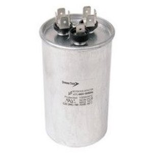 Morris Products T4JR0560 Motor Run Capacitor, Dual Capacitance, Round Can, 440VAC, 60+5uf