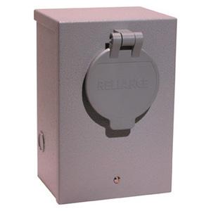 Reliance Controls PR50 Power Inlet, 50A, 120/240VAC, 1PH, NEMA CS6364 Receptacle