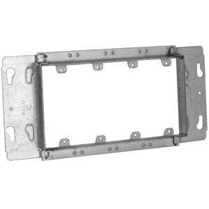 """Hubbell-Raco 823 Gang Box Device Cover, 4-Gang, 3/4"""" Raised"""