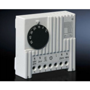 Rittal DUP-3110000 Internal Thermostat, 24V to 230V, 71 mm x 71mm x 33.5 mm, White
