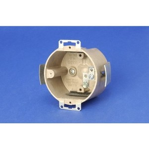 "Allied Moulded 9338-ESG 3-1/2"" Round Ceiling/Fixture Box, Depth: 2"", Old Work, Non-Metallic"
