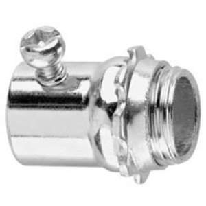 "Cooper Crouse-Hinds 450S EMT Set Screw Connector, 1/2"" Steel"