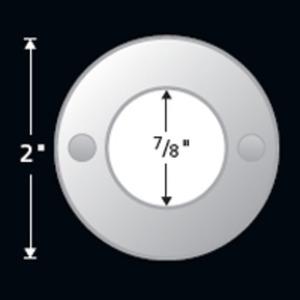 LEDMD-WH-AL LED MINI DISC ALUMINUM