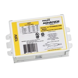 Philips Advance REZ2T42M3BS35M Electronic Ballast, Mark 10, CFL, 2-Lamp, 1207V