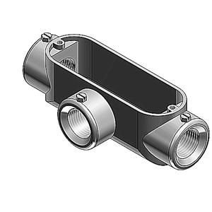 "Red Dot BT-2 Conduit Body, Type: T, Size: 3/4"", Material: Die Cast Aluminum"