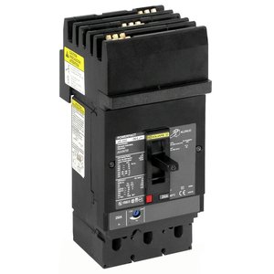 Square D JDA36200 Breaker, Molded Case, 200A, 600VAC, 14-25kAIC, 3P, Power Pact J