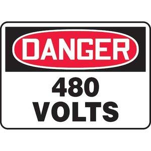 "Panduit PVS0710D7130 7.00"" x 10.00"" DANGER 480 VOLTS"