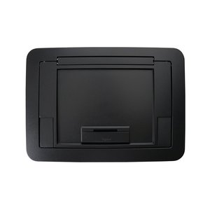 Wiremold EFB45CTBK Surface Style Cover with Floor Insert, Black