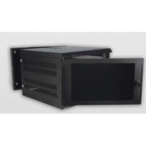 Quest WM30191102 Enclosure, Wall Mount, Swing Out Design, 11RMU, Black