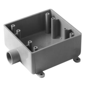 "Carlon E9802E Weatherproof Box, 2-Gang, Type: 2FSE, (1) 3/4"" Hub, Non-Metallic"
