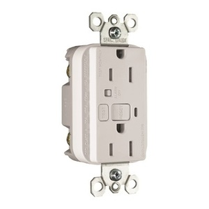 Pass & Seymour 1595-TRAW Tamper Resistant GFCI Receptacle, 15A, 125V, Audible, White *** Discontinued ***