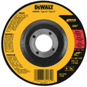 "DEWALT DW8424H 4-1/2""X.045""X5/8""-11 HP CUTOFF WHEEL"