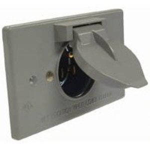 Hubbell-Raco 5153-0 Wiring Device Plug Base, 15A, 125V, Gray
