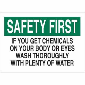 22368 CHEMICAL & HAZD MATERIALS SIGN