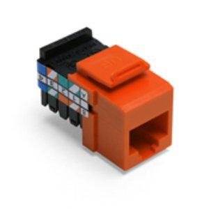 Leviton 41108-RO3 Jack Cat 3 8p8c Orange *** Discontinued ***