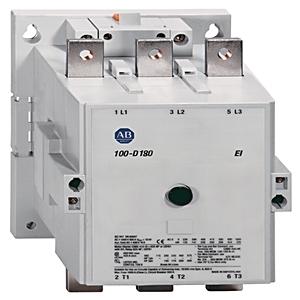 Allen-Bradley 100-D180D00 Contactor, IEC, 180A, 3P, 120VAC Coil, No Auxiliary Contacts