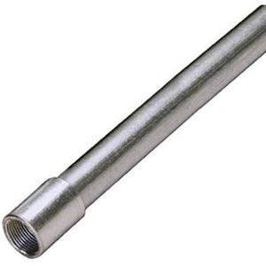 "Calbrite S40710CT00 Type 304 Stainless Steel Rigid Conduit, 3/4"", w/ Coupling, 10'"