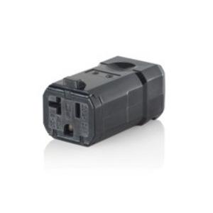 Leviton 5359-VB 20 Amp Connector, 125V, 5-20R, Nylon, Black, Python
