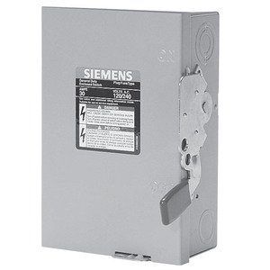 Siemens LNF222R Safety Switch, 60A, 2P, 240VAC, GD, Non-Fusible, NEMA 3R