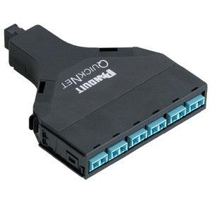 Panduit FQXN-12-10AF LC Adapter, Fiber QuickNet, SFQ, MTP, OM3,6 LC Duplex, 12 Fiber