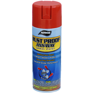 Dottie 301 Rust Proof Any-Way Spray Paint, Safety Red, 16 oz