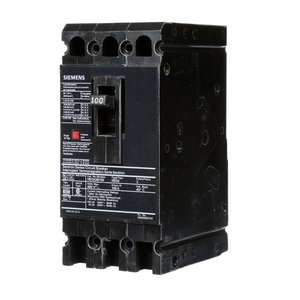 Siemens HED43B100 Breaker, Molded Case, 100A, 3P, 480VAC, Type HED, 42 kAIC