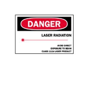 Brady 25259 Radiation & Laser Sign