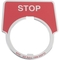 9001KN302 30MM LEGEND PLATE - STOP (RED)