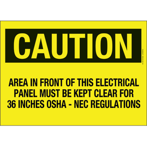 """Panduit PPS1014C141 Adhesive Sign, Polyester, 14"""" X 10"""", CAU *** Discontinued ***"""