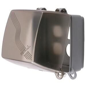 Hubbell-Wiring Kellems RW57900 WP HOOD, DEEP, 2G HZ/VT, MULTI OPNG, GY