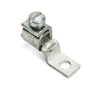 """Thomas & Betts 35401 Locktite Lug, One-Hole, Copper, Offset Tongue, 8 - 2 AWG, 1/4"""" Stud Size"""