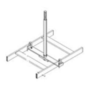 "Chatsworth 12362-712 Cable Runway Center Support Kit,, 12"" Width, Black"