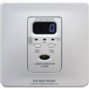 Kidde Fire 21007426 Carbon Monoxide Alarm, 120VAC, Wire-In, Battery Back-Up, White