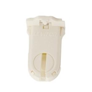 Leviton 23660-SWP Lampholder, Fluorescent, Medium Bi-Pin, White