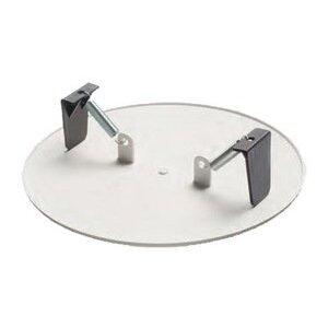 "Arlington CP9000 Round Box Cover, Diameter: 9"", White, Non-Metallic"