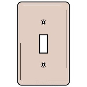 Hubbell-Wiring Kellems NP1R Toggle Switch Wallplate, 1-Gang, Nylon, Red