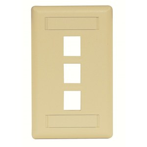 Hubbell-Premise IFP13EI PLATE WALL FLUSH 1-G 3PORT EI