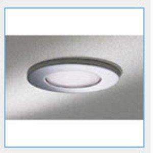 "Lightolier 377WHX Shower Trim, 3-3/4"", White Frosted Glass/White Flange"