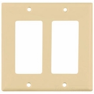 Eaton Arrow Hart 5152V-BOX Wallplate 2G Decorator Nylon Std IV