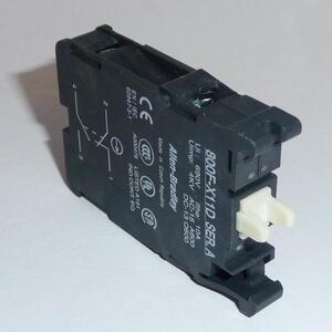 Allen-Bradley 800F-X11D Contact Block, 22.5mm, Plastic, 1 NO/NC, Dual Circuit