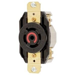 Hubbell-Kellems HBL2520 Single Flush Receptacle, 20A, 277/480V