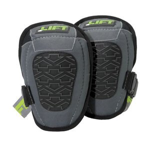 "Lift Safety KPM-6K Knee Pads, Pivotol Mid, Textured Knee, 2"" Strap."