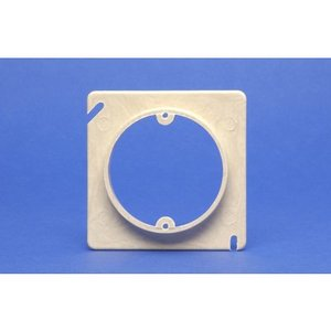 """Allied Moulded 9347 4"""" Square Box Device Ring, 1-Gang, 1/2"""" Raised, Non-Metallic"""