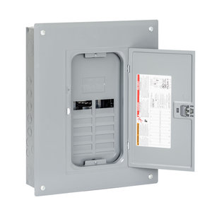 Square D HOM1224L125PGC Load Center, Homeline, 12/24, MLO, 125VAC, Plug on Neutral