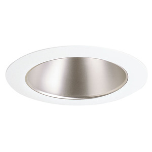 "Juno Lighting 442-WHZWH Cone Trim, Deep, 4"", Wheat Haze Reflector/White Trim"