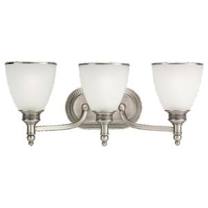 Sea Gull 44351-965 Wall Light, 3 Light, 100W, Antique Brushed Nickel