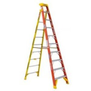 Werner Ladder L6210 Ladder, 10ft Height, Yellow