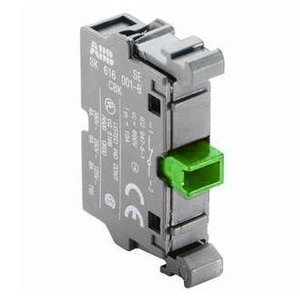 ABB MCB-10 Pilot Device, 22mm Contact Block, 1NO, Front Mount, Non-Metallic