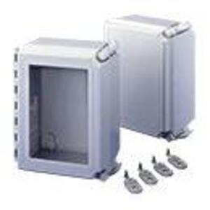 """nVent Hoffman A864CHQRFGW Enclosure, NEMA 4X, Continuous Hinge, 8"""" x 6"""" x 4"""""""