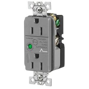 Hubbell-Wiring Kellems HBL5262GYSA DUP SPD RCPT, 15A